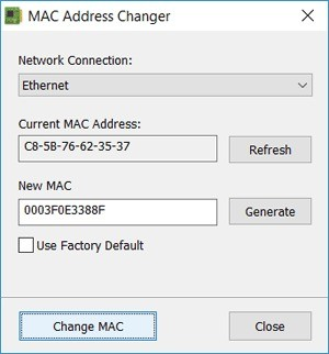Download Mac Address Changer For Pc