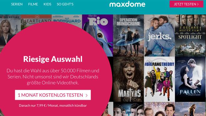 Maxdome Gutschein-Aktion©Maxdome
