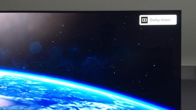 Fernseher signalisieren mit einer kurzen Einblendung, wenn der angeschlossene Player 4K-Filme mit Dolby Vision anliefert.©COMPUTER BILD