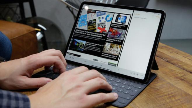 Der große iPad-Vergleich: Alle aktuellen iPads im Überblick Die optionale Tastatur kostet beim 11-Zoll-Modell stattliche 199 Euro, verwandelt das iPad Pro aber auch in ein Notebook mit gutem Tastenanschlag.©COMPUTER BILD