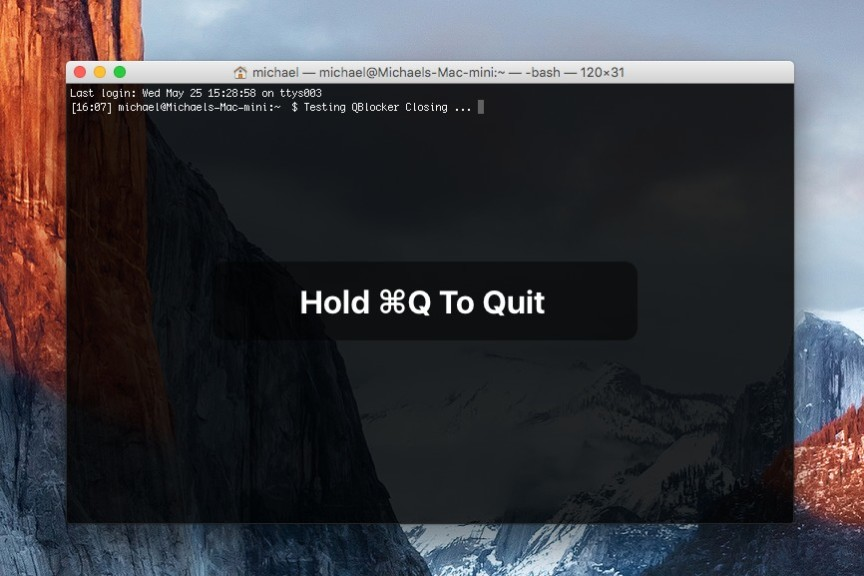 Screenshot 1 - qBlocker (Mac)