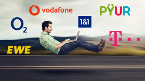 DSL und Kabel Internetanschlüsse im Test©iStock.com/ SIphotography, Vodafone, O2, EWE, 1&1, Pyur, Telekom, O2