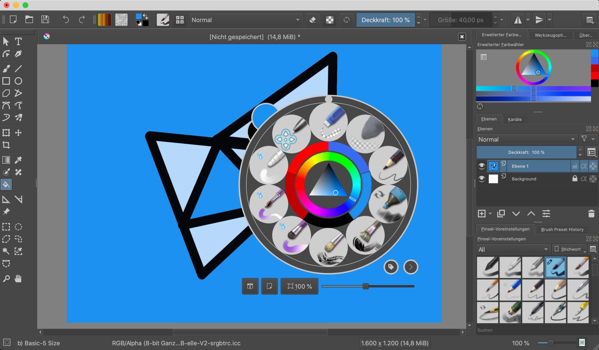 Screenshot 1 - Krita (Mac)