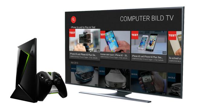 Nvdia Shield Android TV, Fernseher©Nvidia, Samsung, COMPUTER BILD