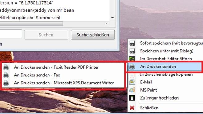 Screenshot an einen (Pseudo-)Drucker leiten ©COMPUTER BILD