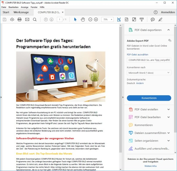 Screenshot 1 - PDF Forte