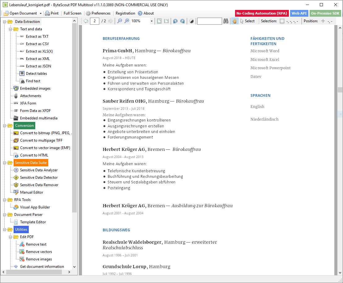 Screenshot 1 - PDF Multitool