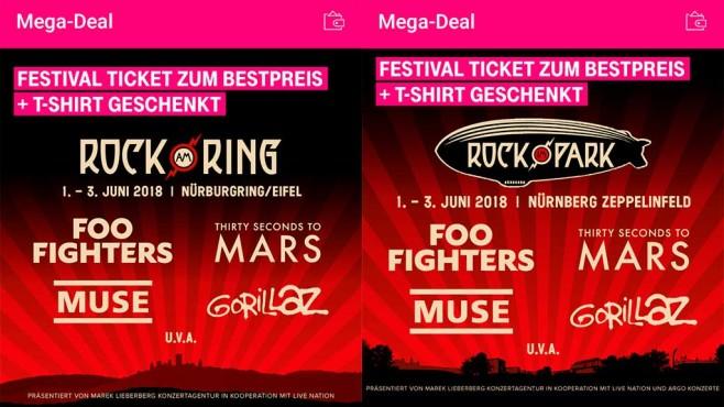 Telekom Mega-Deal zu Rock am Ring und Rocl im Park©COMPUTERBILD