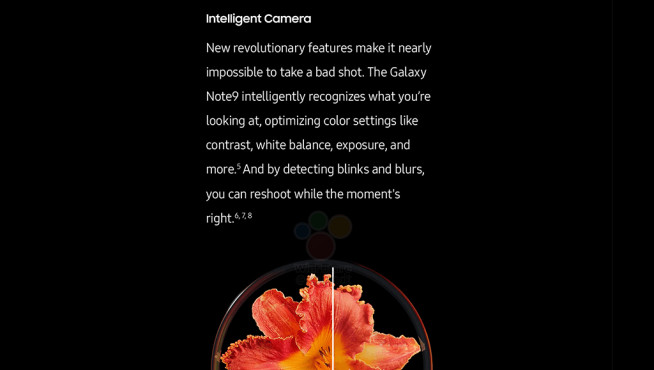 Samsung Galaxy Note 9: Intelligente Kamera©Samsung/Screenshot Pocketnow