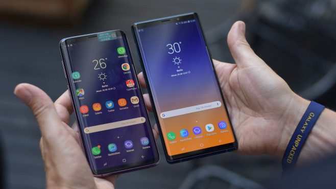 Samsung Galaxy Note 9 vs. Galaxy S9 Plus © COMPUTER BILD