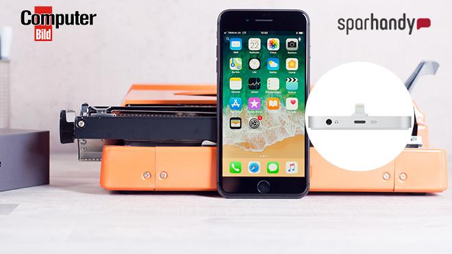 iPhone 8 besonders günstig mit Tarif kaufen©Apple, Telekom, Sparhandy, COMPUTER BILD