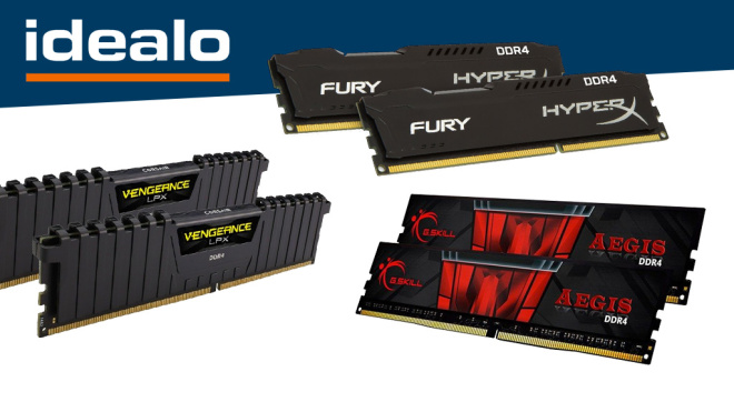 DDR4-RAM©G.Skill, Corsair, Kingston