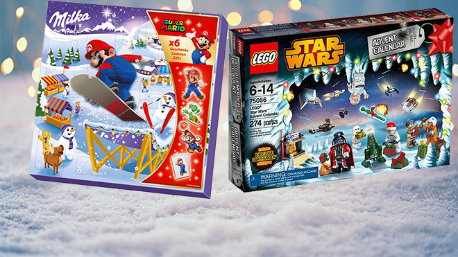 Adventskalender Schoki und Spielzeug©Kesu - Fotolia.com, Milka, Lego