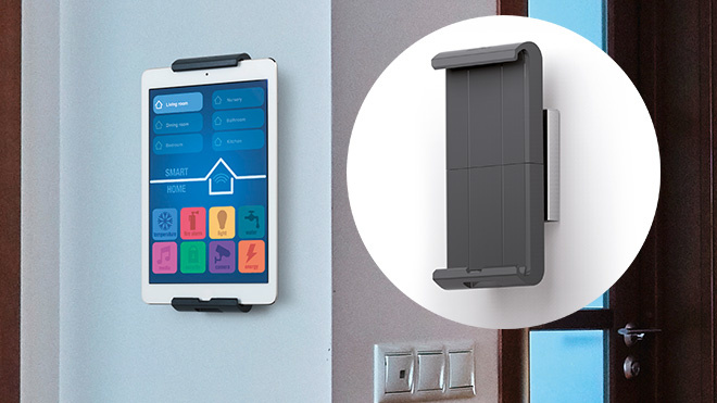 Gewinnspiel: 100 Tablet Holder Wall abstauben! © Durable