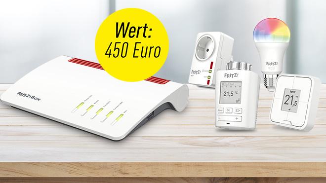 Fritz! Smart Home-Set im Wert von 450 Euro gewinnen©AVM, ©hakinmhan-Fotolia.com