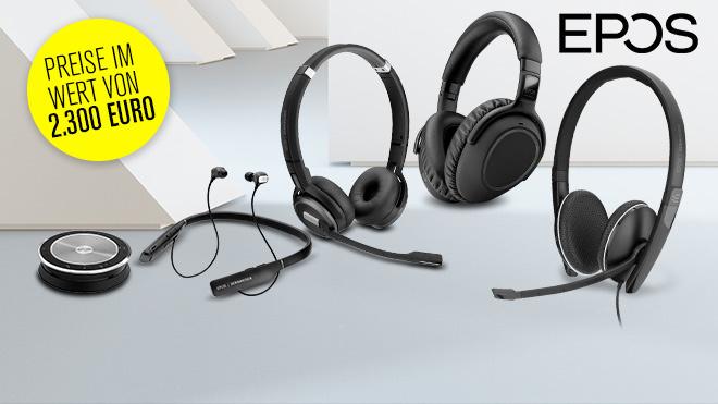An der Kopfhörer-Umfrage teilnehmen und Audio-Preise im Wert von 2.300 Euro abstauben©Epson, iStock.com/terng99, Epos