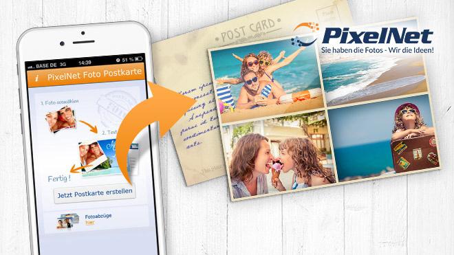 Digitale postkarte per post