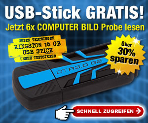 Abo Angebot © COMPUTER BILD, Kingston